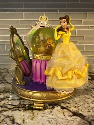 Beauty And The Beast Belle Wardrobe Mirror Lumière Cogsworth Musical Snowglobe