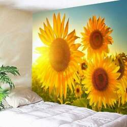 Sunflowers Tapestry Wall Hanging Flower Bedspread Tapestries Home Dorm Decor