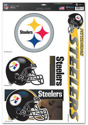 Pittsburgh Steelers 11x17 Ultra Decals Stickers Corn Hole Removeable Fast Ship