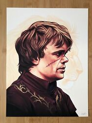Mike Mitchell Tyrion Lannister Portrait Game Of Thrones Hbo Mondo Ap Art Print