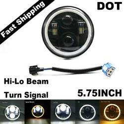 5-3/4 5.75inch Led Projector Headlight Hi/lo For Harley Motorcycles Dyna Round