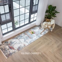 Yilong 2.6and039x10and039 Handmade Bamboo Silk Rug Runner Home Decor Indoor Carpet T035