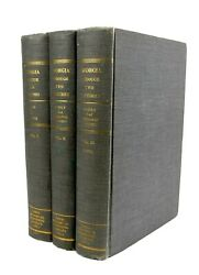 Georgia Through Two Centuries By Grice And Coulter - 3 Volume Set