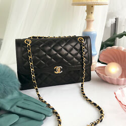 Vintage CHANEL Paris Limited Design Flap Chain Bag Black