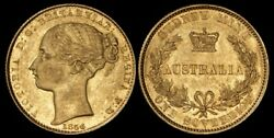 AUSTRALIA : 1856 QV Gold Sovereign Sydney Mint Type I. McD cat EF $19,500.