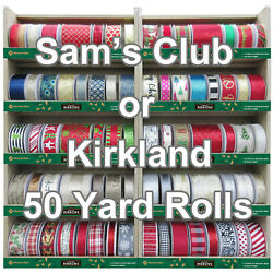 50 Yard Wired Christmas Ribbon Your Choice Kirkland- Memberand039s Mark 1.5 Or 2.5