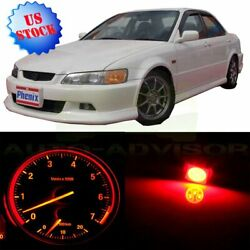 Gauge Cluster Red Bulbs + Climate Control LED Kit For 1998-2002 Honda Accord