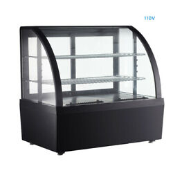 Countertop Refrigerated Cooling Display Case Cake Showcase Bakery Cabinet 110v