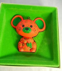 Vintage Hallmark Tree-Trimmer Collection Ornament Calico Mouse Red
