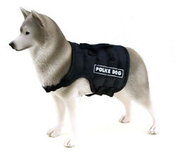 1/6 Scale Police Vest Siberian Husky For Action Figures Toys Hobbie Army Soldier