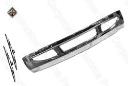 Chrome Steel Replacement Bumper For International Durastar 02+ W/ Two Holes Logo