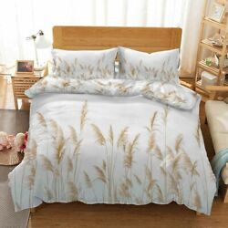 Orange Water Reed 3d Printing Duvet Quilt Doona Covers Pillow Case Bedding Sets