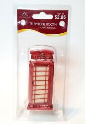 Holiday Time Collection Telephone Booth O'well, 4 H, Fits Lemax, Dept. 18