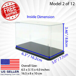 Model Toy Display Case Rectangle Small Clear Plastic Box Dust Proof Car Uv
