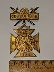Antique Concord New Hampshire Masonic Mount Horeb Commandery 1826 Medal Was 500