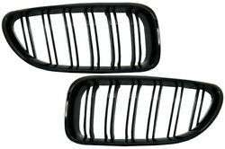 Paino Black Gloss Double Spoke Kidney Grills For Bmw 6 Series F06 F12 F13