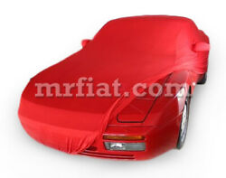 For Porsche 924 944 968 Red Indoor Fabric Car Cover W/ Mirror Pockets 89-95 New