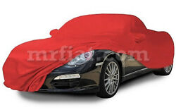 For Porsche Boxster 987 Red Indoor Fabric Car Cover W/ Mirror Pockets 04-11 New