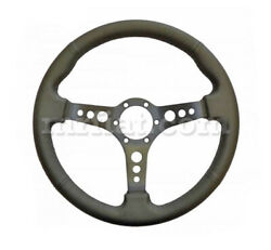 Alfa Romeo Spider Leather Steering Wheel Black Punched Spokes 360 Mm New