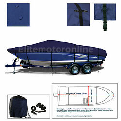 Premium Trailerable I/o Deckboat Deck Boat Cover Fits 23and039 - 24.5and039 L Navy