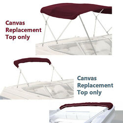 Bimini Top Boat Cover Canvas Fabric Burgundy W/boot Fits 3bow 72l 46h 91-96w