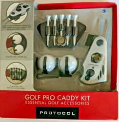 New Sealed Protocol Golf Pro Caddy Kit- Cleat Brush/divit Tool/holders/spike