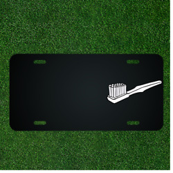 Custom Personalized License Plate With Add Names To Toothbrush Dental Tooth