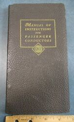 1950 Erie Railroad Co Manual Of Instructions For Passenger Conductors 92pg Book