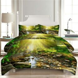 Stone Stream Water 3d Printing Duvet Quilt Doona Covers Pillow Case Bedding Sets