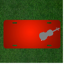 Custom Personalized License Plate With Add Names To Violin String Instrument