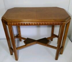 Vintage Octagonal Wood Console/sofa/hall Entry Table Chippendale/regency/empire