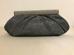 Mon Cheri Pewter Clutch Handbag $25.00