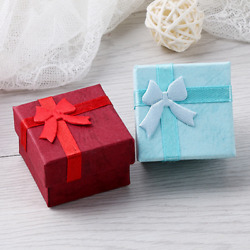 960x Square Jewelry Box Brooches Hair Pins Ring Earrings Studs Bowknot Boxes