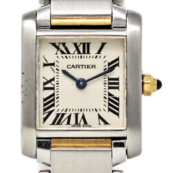 Tank Francaise W51007q4 Small Stainless Steel Yellow Gold 2yrwty 509
