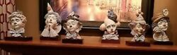Lladro Complete Set Of Clown Bust