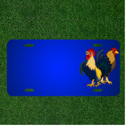 Custom Personalized License Plate With Add Names To Animals Chickens Cock