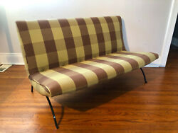 Rare 1960s Early Production Milo Baughman Scoop Settee For Thayer Coggin