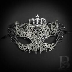 Crown Masquerade Masks for Women Silver M7174