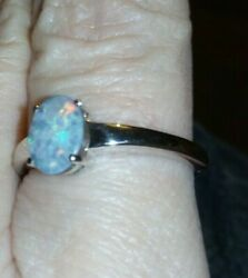 3 Gorgeous 100 Genuine Crystal Opalboulder On Ironstone Sterling Silver Ring