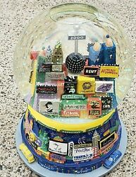 New York City Musical Snow Globe Broadway Plays Twin Towers Auld Lang Syne Nice
