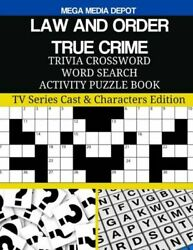 Law And Order True Crime Trivia Crossword Word Search Activity Puzzle Book...