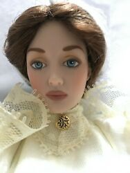Franklin Mint Gibson Girl 15 Vinyl Doll Lilly In Wedding Dress, Veil And Bouquet