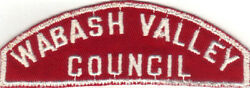 Boy Scout Rws Wabash Valley / Council Red And White Full Strip