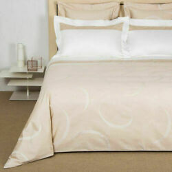 Frette Ribbons Queen Duvet Cover Savage Beige Milk Ivory New 1450