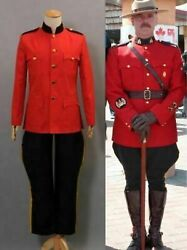 Due South Royal Canadian Mountie Red Uniform Costume Cosplay