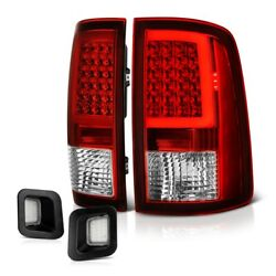 For 09-18 Dodge Ram Neon Tube Led Tail Lamp [red] License Plate Light [clear]