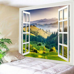 3D Tapestry Crafts Wall Hanging Decorations Landscape Pattern for Students Dorm