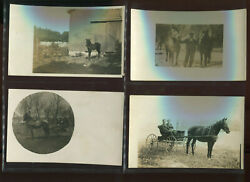 20 Vintage Early 1900's Real Photo Horses And More Post Cards From Nice Collection