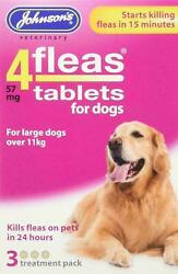 Johnsonand039s 4fleas Large Dog Over 11kg 3 And 6 Tablets Kills Fleas In 24 Hours
