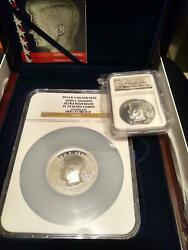 22014 John F Kennedy Ultra High Relief Silver Coins 2 Oz And 4 Oz W/ngc Pf70